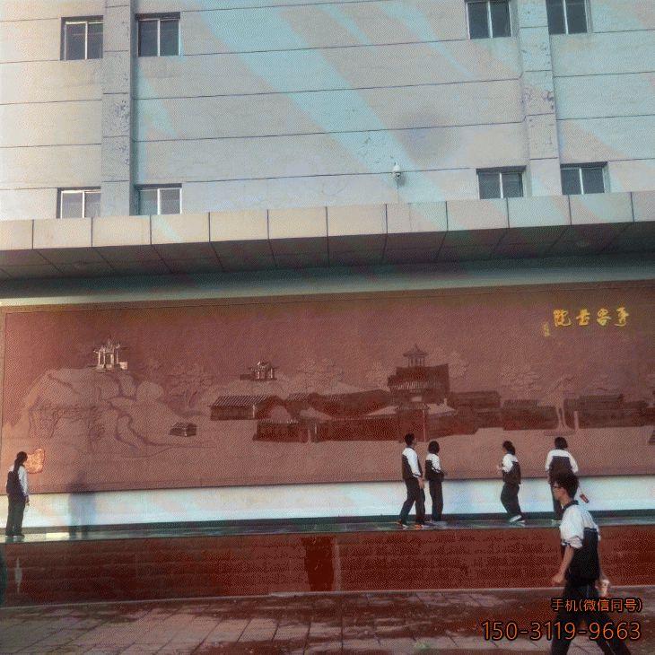 砂岩校园浮雕_校园文化宣传壁画