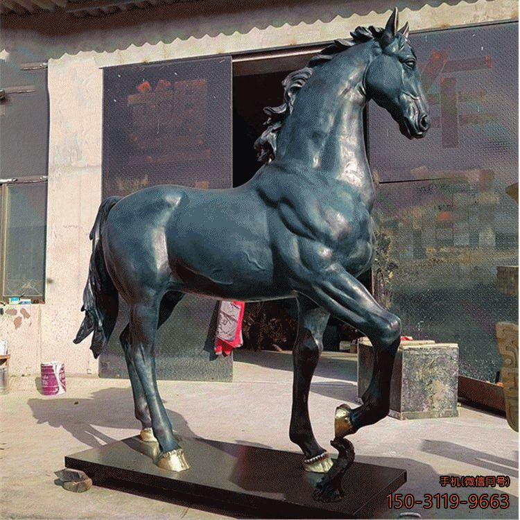 铜雕马_铸铜刚健铜雕动物