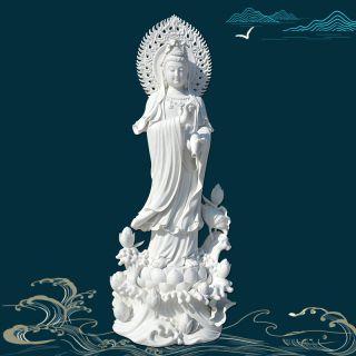 汉白玉弥勒佛像石雕观世菩萨