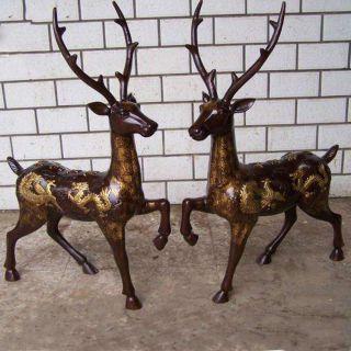 麋鹿_现代城市公园园林动物摆件