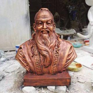 孔子铜雕头像_企业校园历史名人