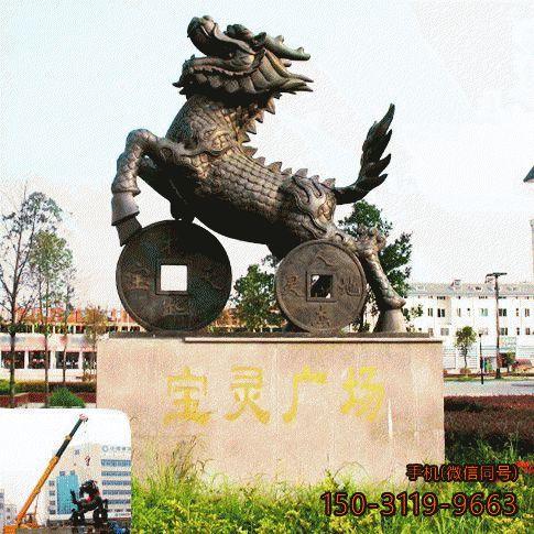 麒麟铜雕景观_城市公园景观铜雕