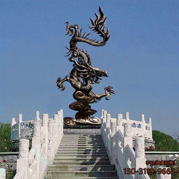 铜雕龙_景区动物景观雕塑