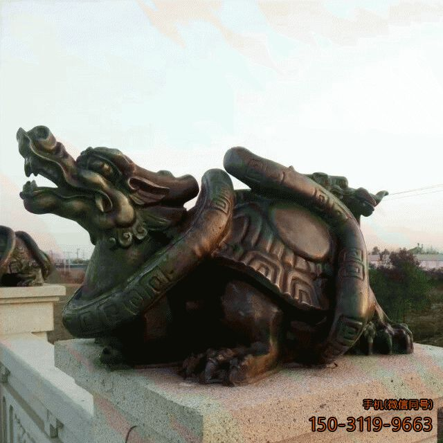 铸铜龙龟雕塑