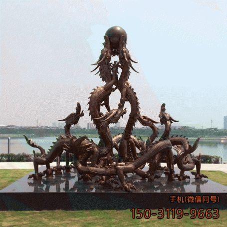 广场九龙戏珠雕塑 (3)
