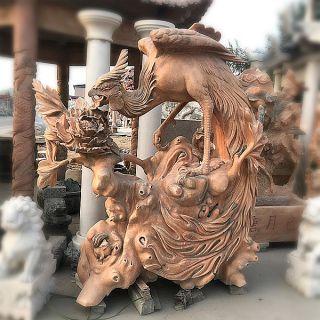 凤凰晚霞红石雕_景区景点动物景观