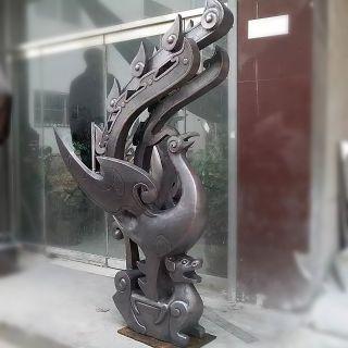 铜雕凤凰_商场企业动物摆件