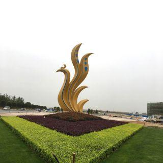 不锈钢抽象凤凰_城市广场动物景观