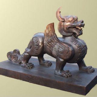 仿古貔貅铜雕塑
