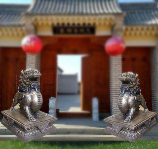 看门貔貅铜雕_企业大门铸铜动物雕塑