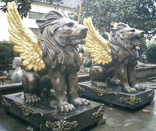 西洋飞狮铜雕