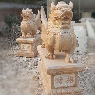 石雕麒麟招财动物