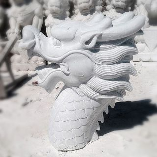 汉白玉龙头_园林喷水龙头