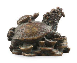 母子龙龟铜雕