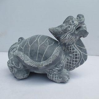 青石龙龟_小型动物石雕摆件