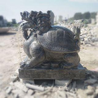青石龙龟 喷水招财龙龟