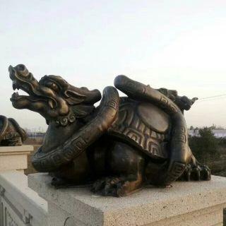 铸铜龙龟雕塑_城市装饰景观动物