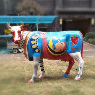 玻璃钢彩绘牛
