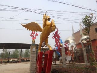 铜雕飞马_企业城市动物景观