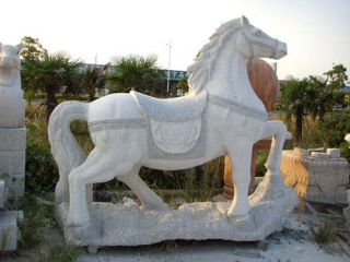 花岗岩石雕马