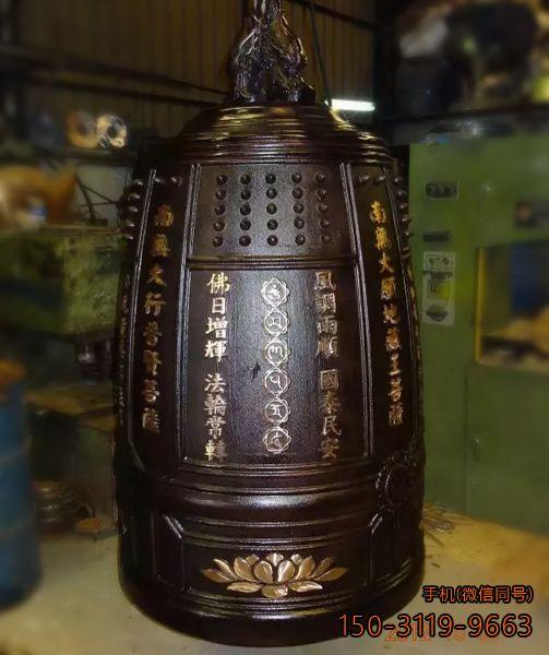寺庙挂钟_厂家铸铜定制铜雕钟