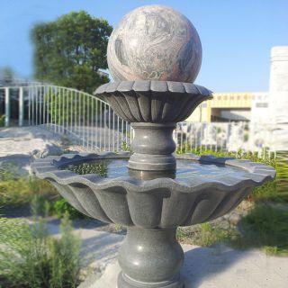 双层风水球石雕_小区风水球喷泉雕塑
