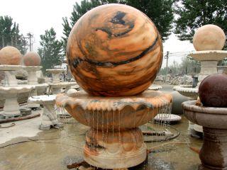 风水球雕塑_石头风水球