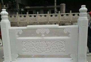 菊花石雕栏板