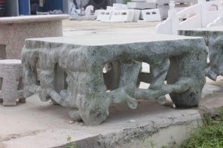 青石异形石桌_园林创意桌子