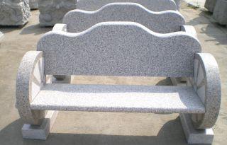 公园石椅子_花岗岩园林椅