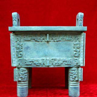 仿古四方鼎_厂家做旧铸铜铜雕