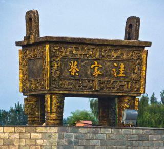 大型城市铜鼎景观厂家定做雕塑