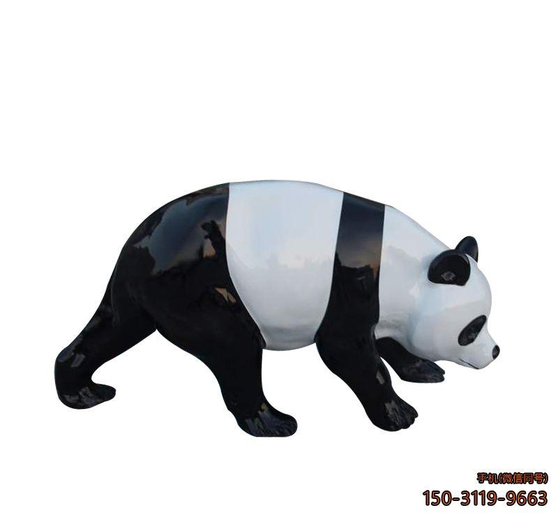 玻璃钢熊猫_游乐场动物熊猫