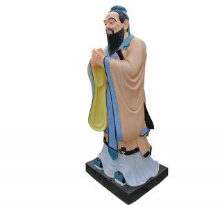 孔子雕像_校园古代人物塑像