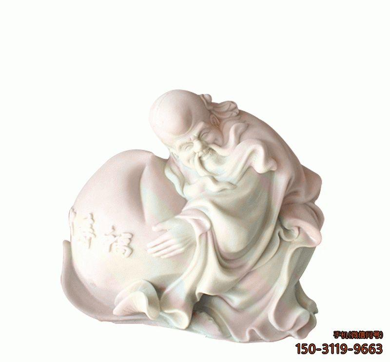 汉白玉寿星公佛像_寺庙寿星公塑像