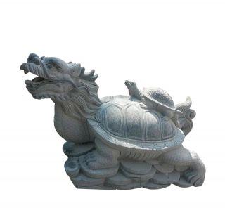 青石龙龟_城市园林动物石雕