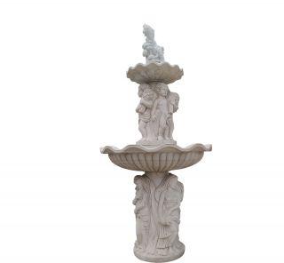 汉白玉欧式喷泉_广场庭院喷泉景观雕塑