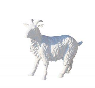 汉白玉山羊_城市园林山羊石雕