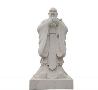 汉白玉孔子像_城市校园古代伟人塑像