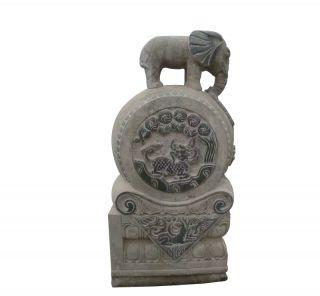 石门墩_公园大理石大象门墩景观雕塑