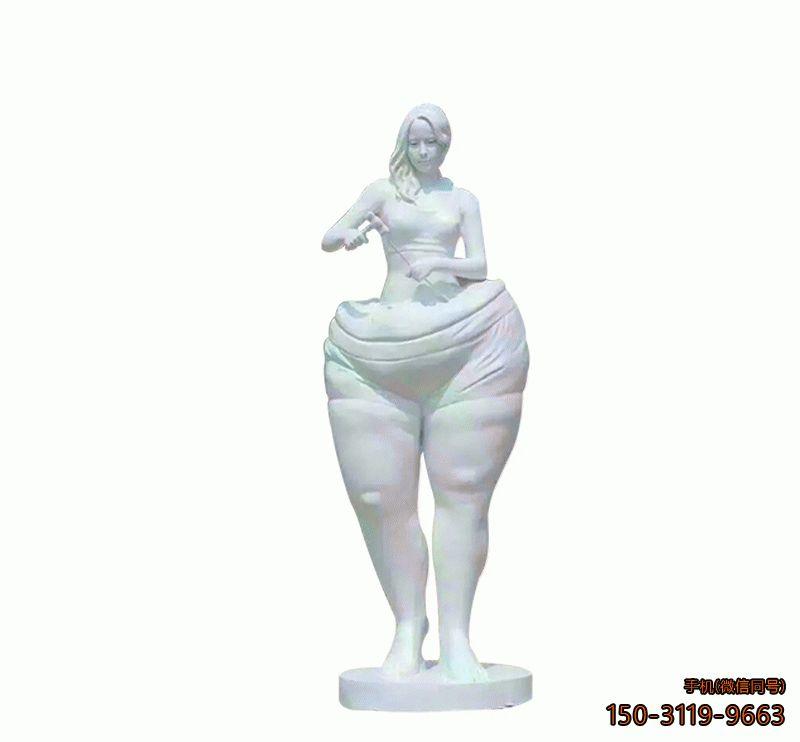 汉白玉蜕变_城市女子蜕变人物雕塑