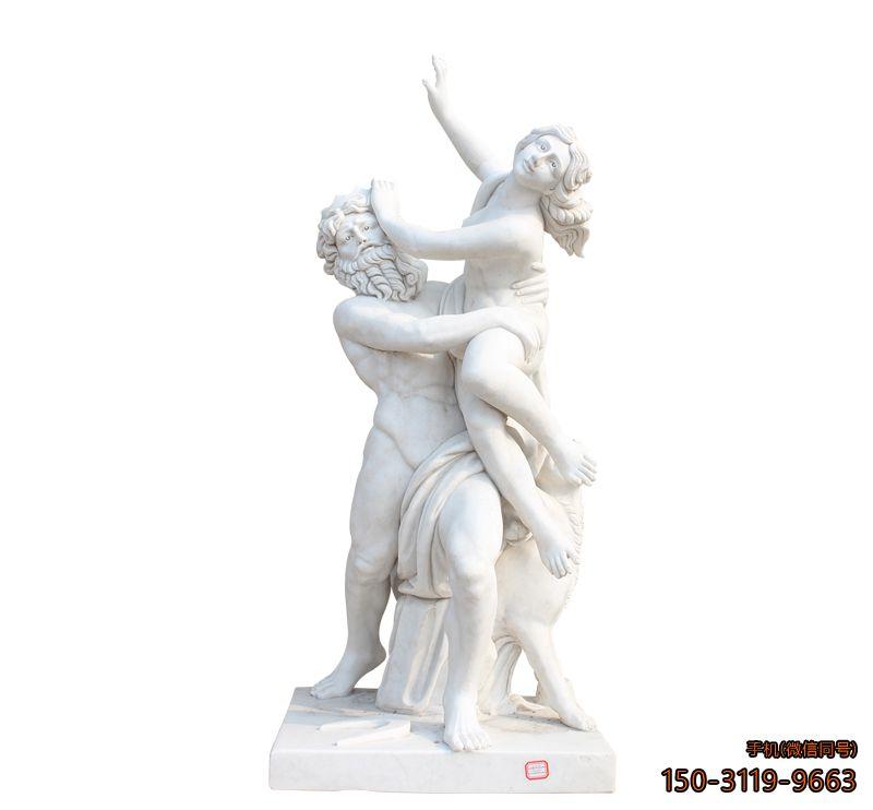 汉白玉西方人物_城市广场人物景观石雕