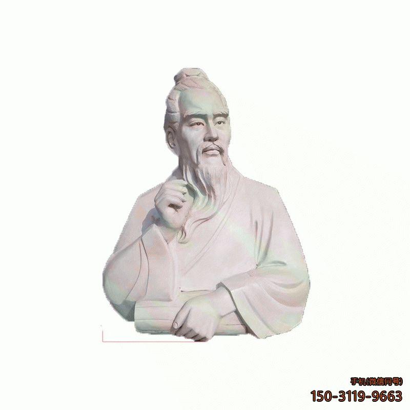 古代名医石雕头像__校园名人半身胸像