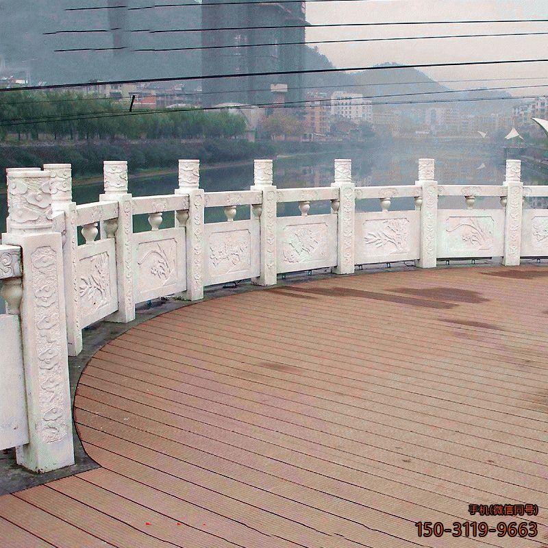 广场石雕栏板_汉白玉大理石广场围栏护栏