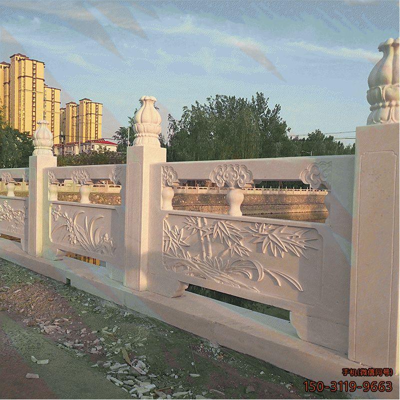梅兰竹菊雕花栏板_路桥大理石雕花围栏护栏
