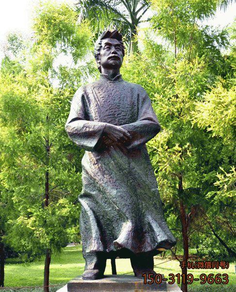 鲁迅先生全身像_公园景区名人铜雕