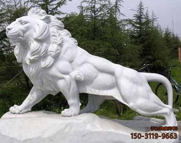 非洲狮西洋吼狮石雕