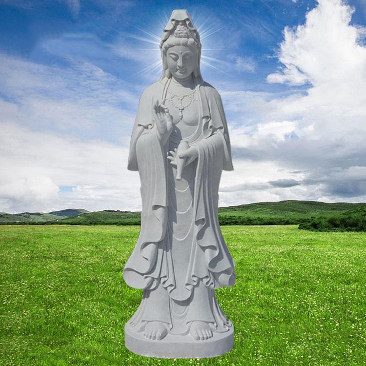 汉白玉滴水观音寺庙立式佛像