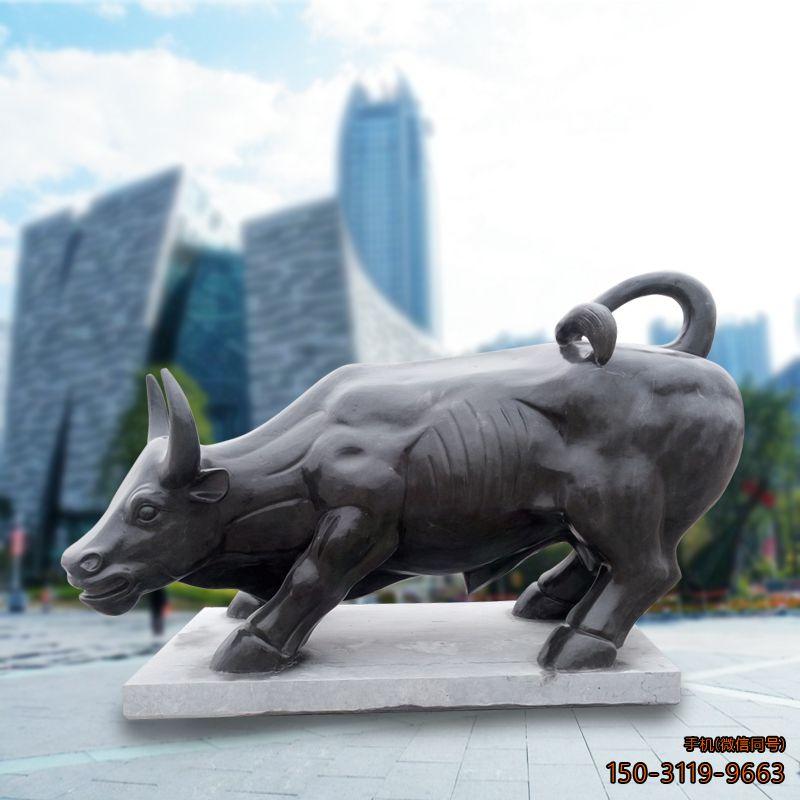华尔街牛企业石雕牛