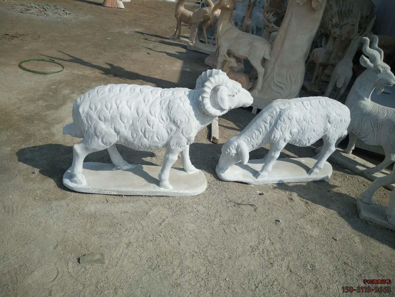 绵羊公园动物石雕